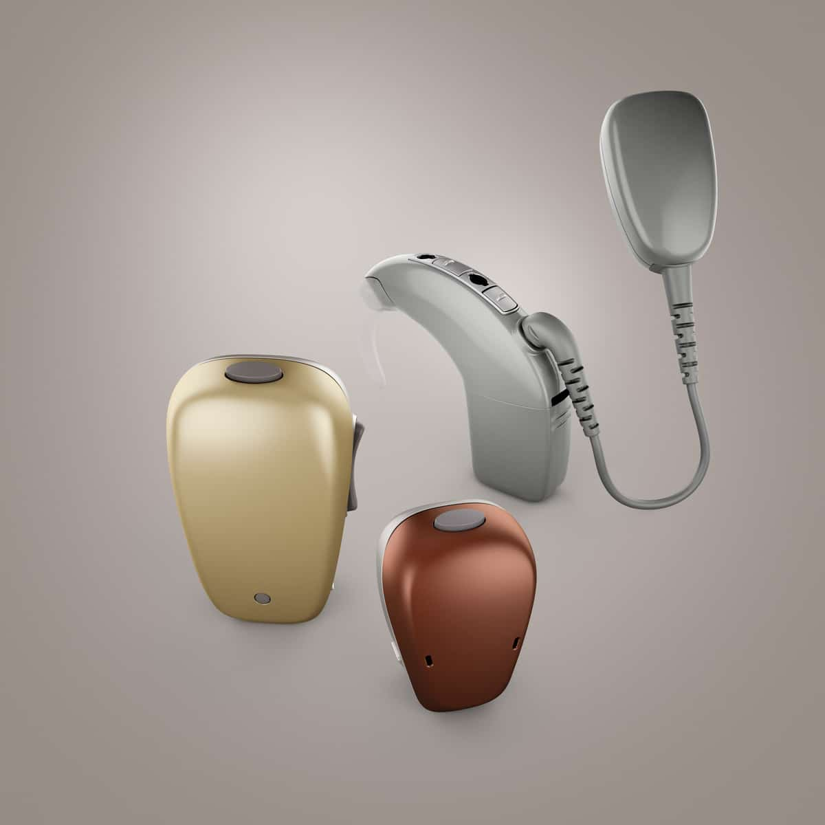 Various electronic hearing devices