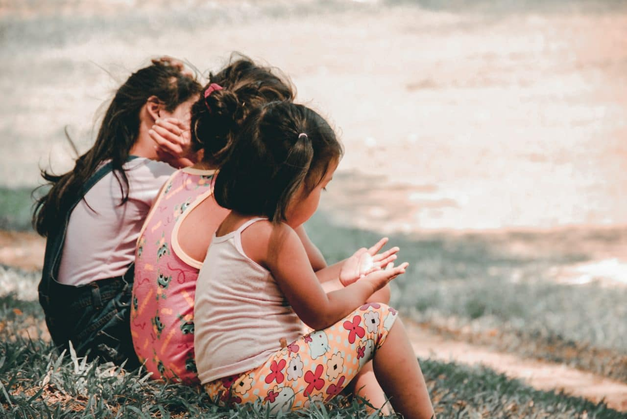 Children sitting together.