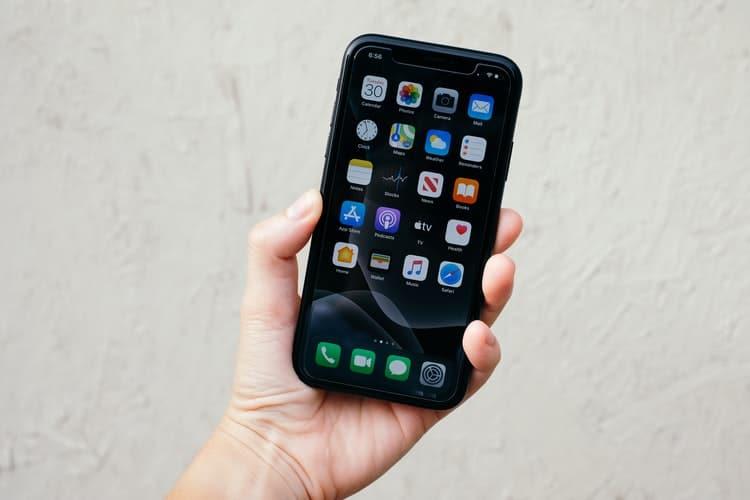 A phone screen.
