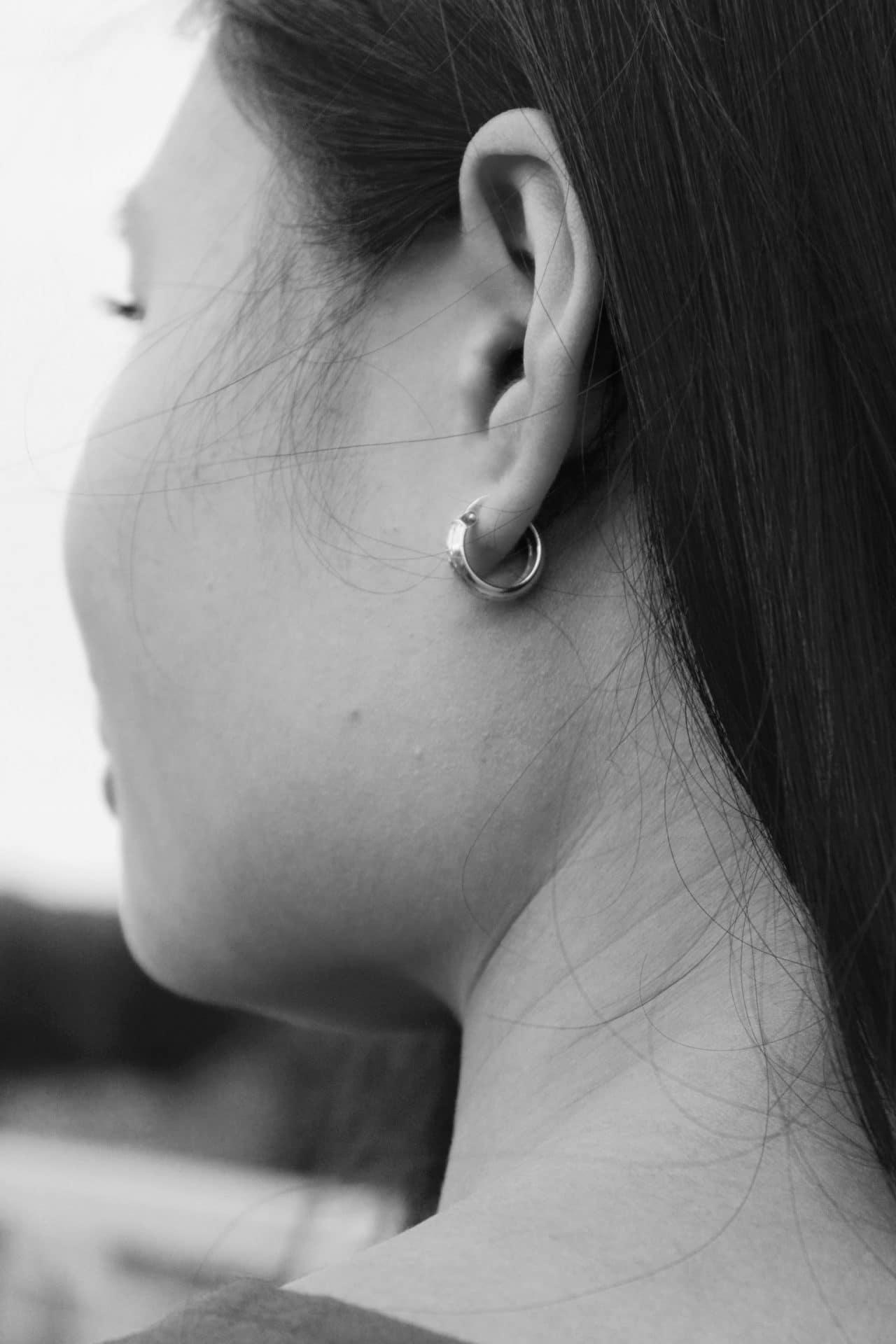 A woman's ear.